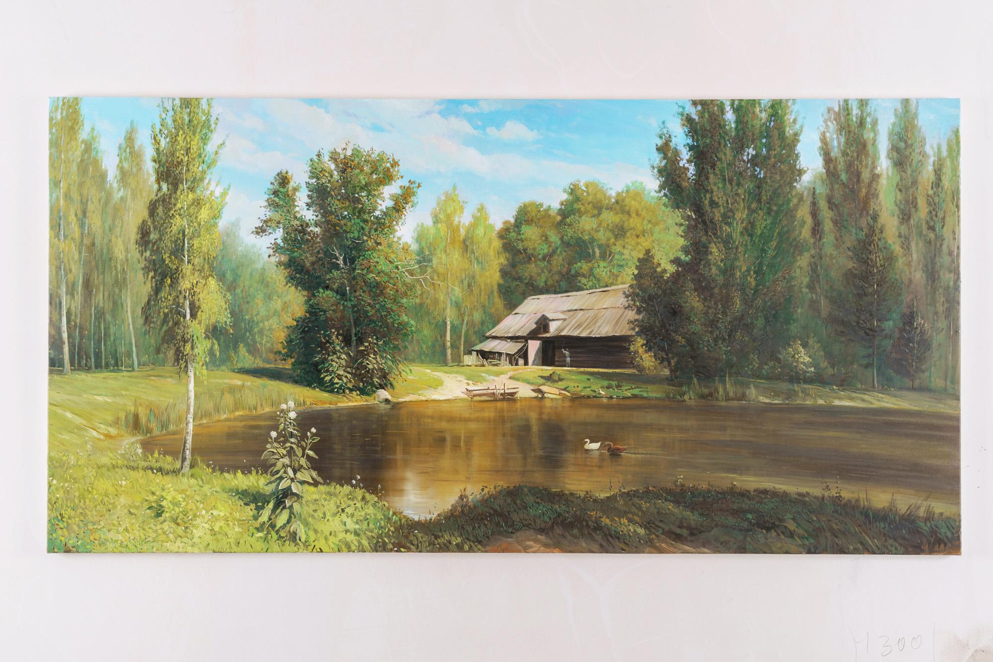 Forest - Lake - (Based on Polenov)