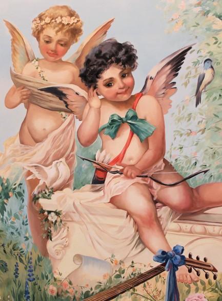 Ангелочки. Репродукция картины Ханса Зацки
