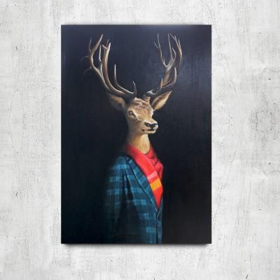 Deer in jacket