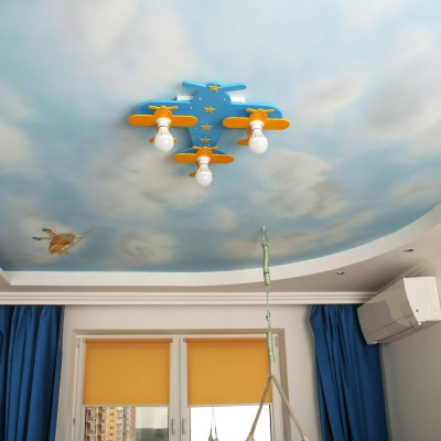Sky with planes. Children room