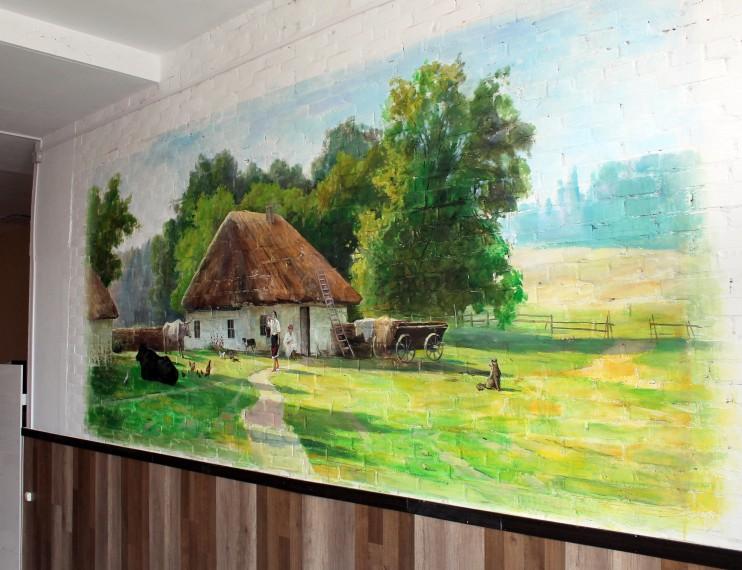 Украинский пейзаж. Копия В. Орловского